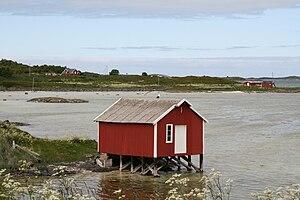 Bjarkøy - Image: Boathouse on Krottoy