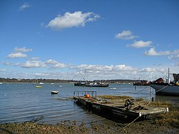 Boats moored on the River Orwell at Pin Mill - geograph.org.uk - 722327.jpg