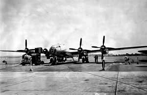 Boeing B-50 Superfortress - The sole XB-44 Superfortress was a converted B-29 Superfortress used to test the possibility of using the R-4360 radial engine on the latter.