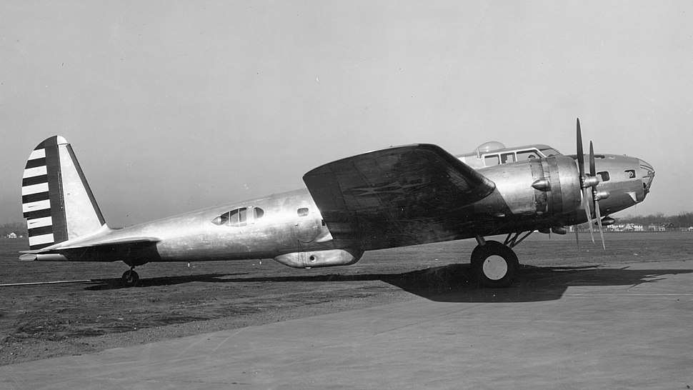 Boeing B-17D at Wright Field (cropped)
