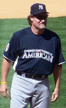 Wade Boggs wearing the 2008 American League All-Star uniform