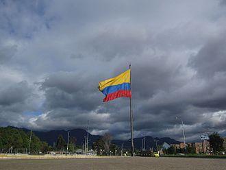 Flag of Colombia - Image: Bogotá Bandera de Colombia CAN
