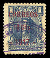 Bolivia Correos 10 Cts. 1917 on 1c blue, Cobija provisional surcharge in carmine, type I.jpg