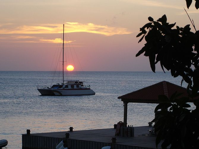 English: Sunset in Bonaire, Netherlands Antill...