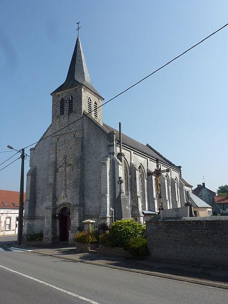 Bonningues-lès-Ardres (Pas-de-Calais) église, extérieur