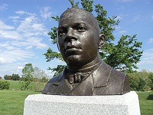 Booker T. Washington National Monument - Bust of Booker T. Washington by James Barnhill (artist), Booker T. Washington National Monument