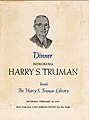 Booklet cover for dinner honoring President Truman at Casa Marina Hotel on February 23, 1957 (8150914776).jpg