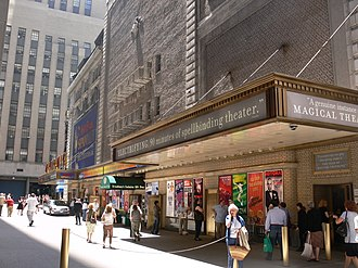 Booth Theatre - Booth Theatre (right) and Shubert Theatre (left), back-to-back in Shubert Alley