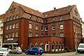 Borgentrickstraße 13, Ziegelstraße 6, Hannover-Döhren, Klinkerexpressionismus, Wohn- und Geschäftshaus, Eckgebäude von Anton Müller und Franz Kühnemann, um 1928.jpg