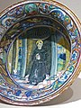 Bowl with Saint Nicholas of Tolentino Maiolica Gubbio 1524 CE (1) (1217141334).jpg