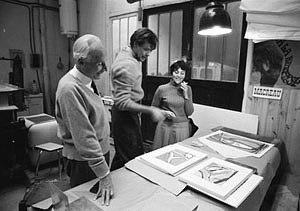 Bram van Velde - Image: Bram van Velde and Peter Bramsen (1969) by Erling Mandelmann