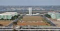 Brasilia Eixo Monumental Nat Congress Ministries from TV Tower.jpg