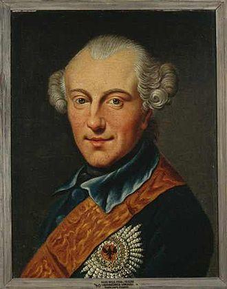 Charles William Ferdinand, Duke of Brunswick-Wolfenbüttel - Anonymous 1780 copy of a portrait painted in 1777 or earlier by Johann Georg Ziesenis