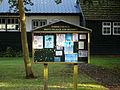 Brent Pelham and Meesden parish notice board Hertfordshire England.jpg