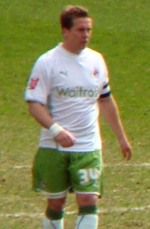 Brian Howard (footballer) - Howard playing for Reading in 2010