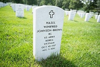 Hazel Johnson-Brown - Grave of Gen. Johnson-Brown at Arlington National Cemetery