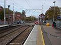 Brimsdown station look north to level crossing open.JPG