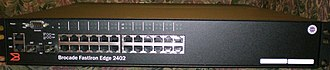 Foundry Networks - Brocade FastIron Edge 24-port switch, front