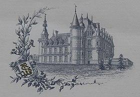 Le château Stéphen Liégeard, représenté sur le papier à lettres de Stéphen Liégeard