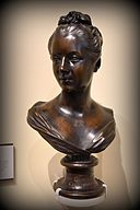 Bronze bust of Marguerite Le Comte, 1750 CE. By Guillaume Coustou II. From Paris, France. The Victoria and Albert Museum, London.jpg
