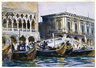 Gondola - La Riva by John Singer Sargent ((Brooklyn Museum))