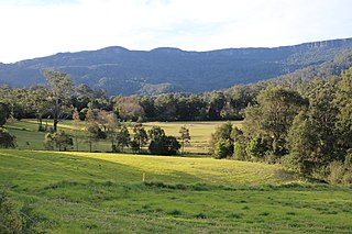 Broughton Vale Town in New South Wales, Australia
