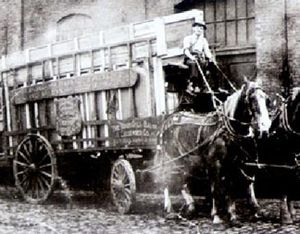 Brunswick Corporation - Delivery with horse carriage 1848.