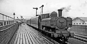 Brynmawr - Until 1957 there was a railway station which had been opened a hundred years before by the London and North Western Railway.