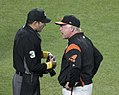 Buck Showalter argues with Pat Hoberg (36163849063).jpg