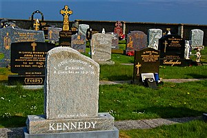 Frankie Kennedy - Kennedy's grave at Magheragallon Cemetery in Gweedore, County Donegal.