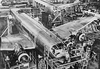 Junkers Ju 90 - Junkers Ju 90 under construction at Junkers-Werke Dessau