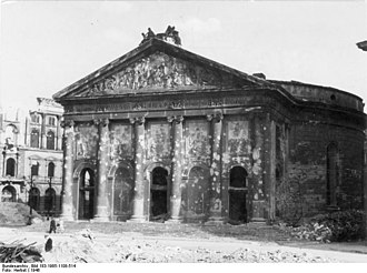 Battle of Berlin (RAF campaign) - The ruins of St. Hedwig's Cathedral, 1946