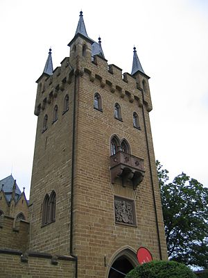 Hohenzollern Castle - Gate tower