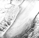 Burroughs Glacier, terminus of mountain glacier, August 22, 1965 (GLACIERS 5979).jpg