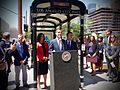 Bus Shelter Modernization Pilot Program Launch (19284209010).jpg