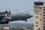 C-130 Hercules takes off from Yokota Air Base (26301980680).jpg