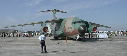 The Kawasaki C-1 is a tactical military transport of the Japan Air Self-Defence Force C-1Transport aircraft02.jpg