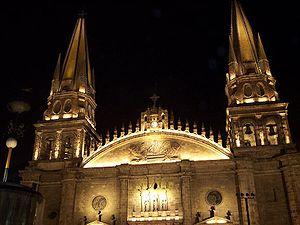 Guadalajara Cathedral - Cathedral's spires.