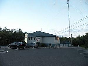 CKRO-FM - CKRO's studios and antenna in Pokemouche, New Brunswick.