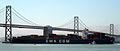 CMA CGM container ship and SF Bay Bridge (3478127138).jpg