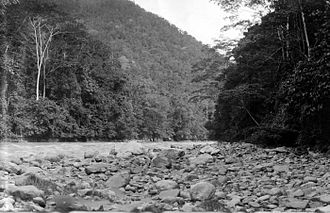 Mamberamo River - The upper Mamberamo River photographed during the Central-North New Guinea Expedition led by Le Roux