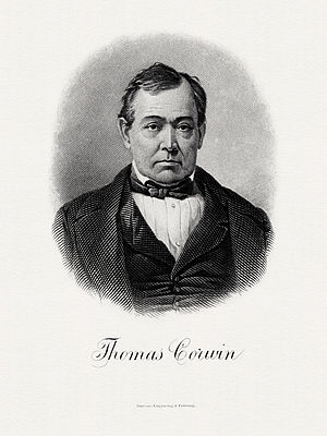 Thomas Corwin - BEP portrait of Corwin as Secretary of the Treasury