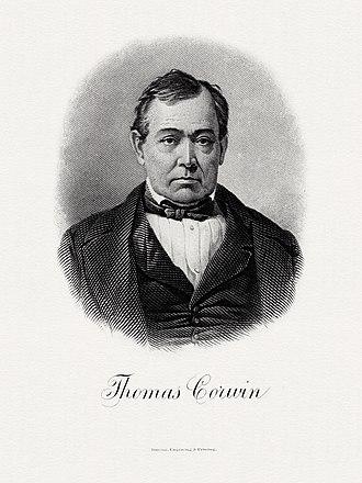 Thomas Corwin - BEP portrait of Corwin as Secretary of the Treasury