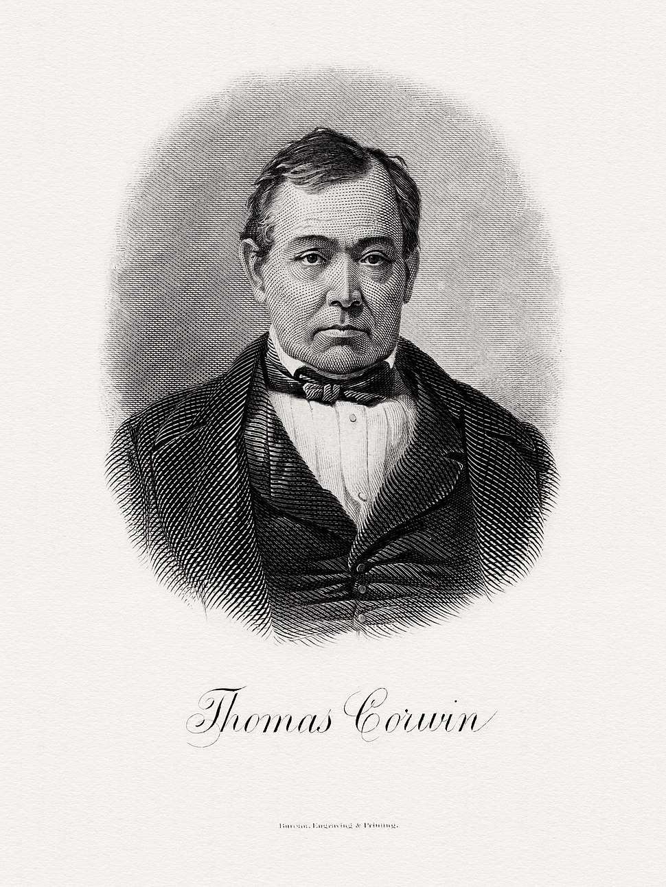 CORWIN, Thomas-Treasury (BEP engraved portrait)