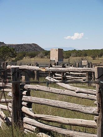 Caja del Rio - Livestock corrals at the Headquarters trailhead