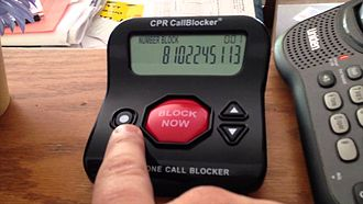 Call blocking - Landline call blocker in use