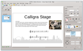 Screenshot di Calligra Suite
