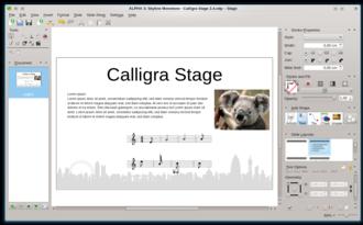 Calligra Suite - Image: Calligra Stage 2.4