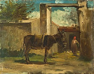 Donkey in Front of a Farm, Montmorency