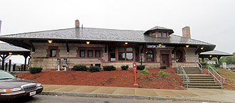 Canton Junction station - The 1892-built station building